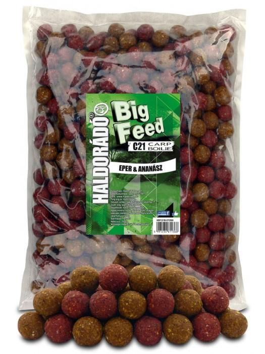 Haldorádó Big Feed - C21 Boilie 2500 g - Jahoda a Ananás