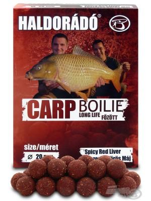 Haldorádó Carp Boilie Long Life  - Fűszeres Vörös Máj / Spicy Red Liver (Korenistá Červená Pečeň)