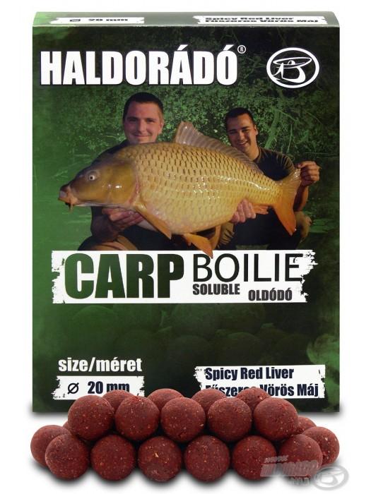 Haldorádó Carp Boilie Soluble -  Fűszeres Vörös Máj / Spicy Red Liver (Korenistá Červená Pečeň)