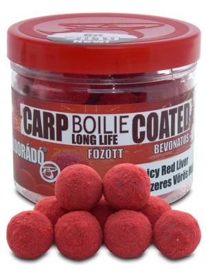 Haldorádó Carp Boilie Long Life Coated 18 mm - Korenistá Červená Pečeň