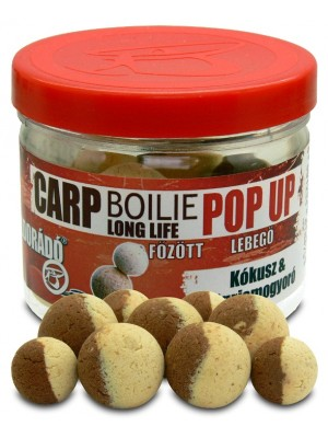 Haldorádó Carp Boilie Long Life Pop Up 16, 20 mm - Kokos + Tigrí Orech