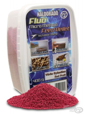 Haldorádó Fluo Micro Method Feed Pellet - Vörös Gyümölcs /  Red Fruit