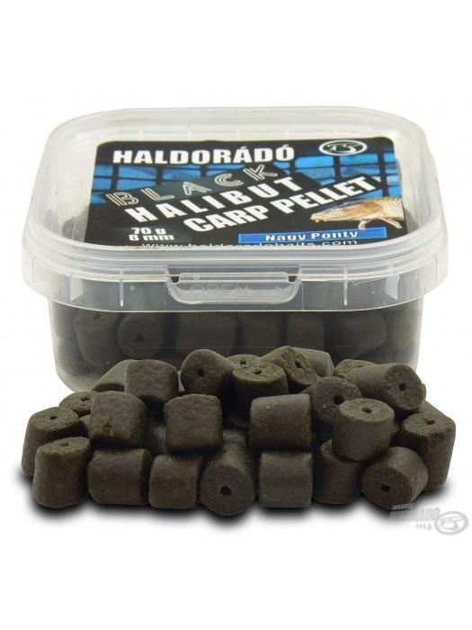 HALDORÁDÓ BLACK HALIBUT CARP PELLET 8 MM - NAGY PONTY (Veľký Kapor)