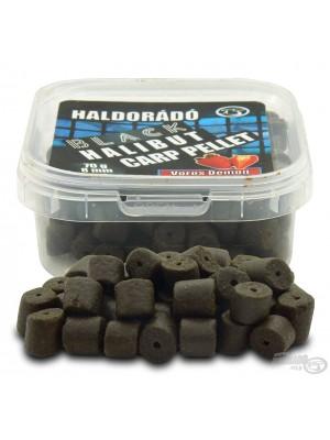 HALDORÁDÓ BLACK HALIBUT CARP PELLET 8 MM - VÖRÖS DÉMON (Jahoda)
