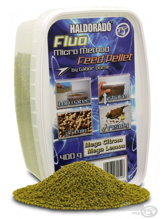 Haldorádó Fluo Micro Method Feed Pellet - Mega Citrom / Mega Lemon