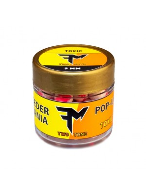 Feeder Mania Pop-Up Boilie Two Tone 9 mm Toxic